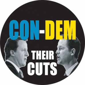 Con-demn their cuts