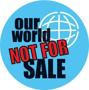 our world not for sale