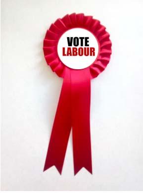 Vote Labour rosette