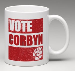 Vote Corbyn, vote Labour mug back
