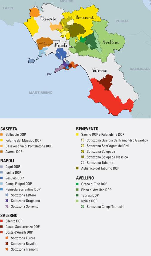 Denominazioni DOP complete Campania