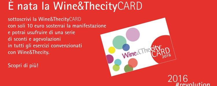 La Wine&TheCity Card