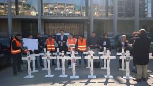 Protesta famiglie vittime Monteforte 5