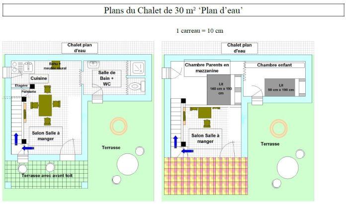 Chalet 30m² Plan d'eau