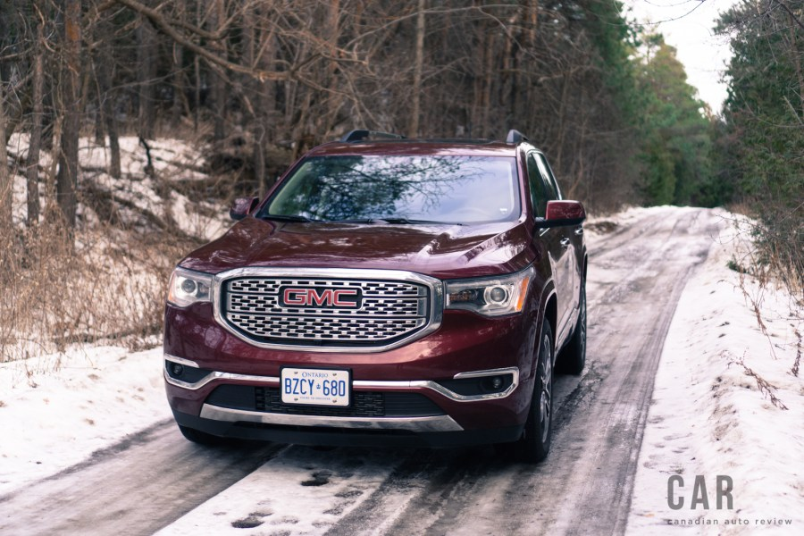 Review  2017 GMC Acadia Denali   Canadian Auto Review 2017 gmc acadia denali chrome