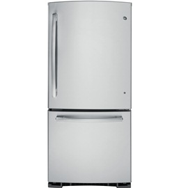 GE 20.2 cu.ft. Bottom-Mount, Pull-Out Drawer Refrigerator - Stainless Steel