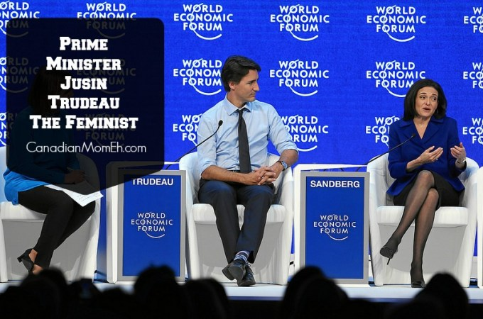 feminism, justin trudeau, davos summit, canadianmomeh, canadian prime minister