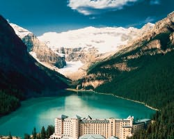 Start your scenic drive at the amazing Lake Louise and you won't be disappointed.