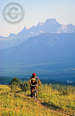 Mountian biking in the Canadian Rockies is full of challenging trails and great views.