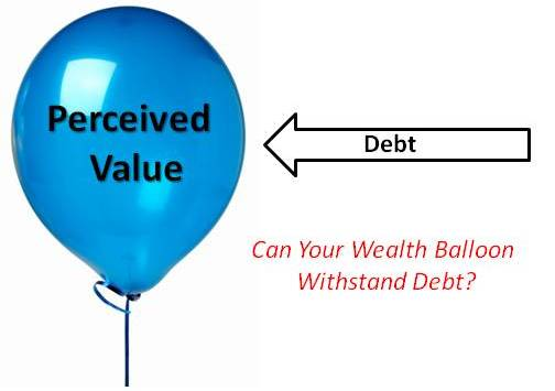 "Yes, I could have made a crass comment about how one ""poke"" from debt could deflate this balloon"