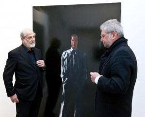 Michelangelo Pistoletto, Il presente, Autoritratto in camicia, 1961, Collezione Cittadellarte Fondazione Pistoletto, Biella, ph Enrico Amici