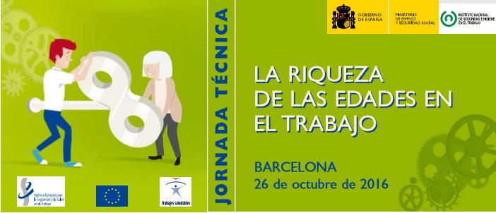 """La riqueza de las edades en el trabajo. """"Semana Europea"""" (26/10/16 – Barcelona)"""