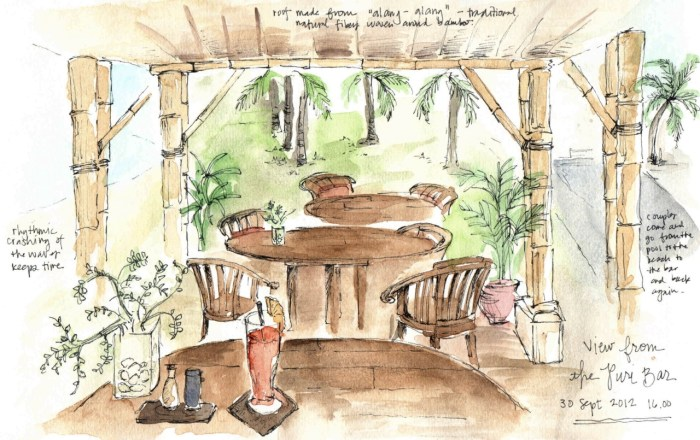 Travel sketches of Bali