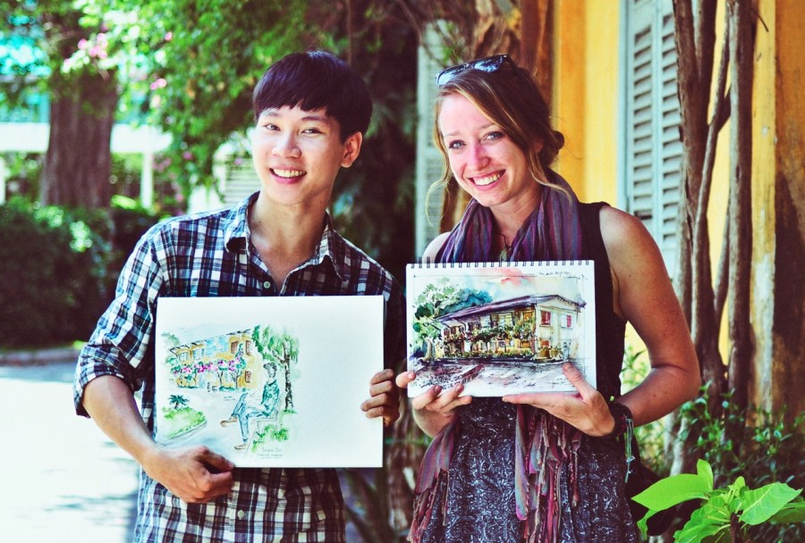 Vietnam travel sketches