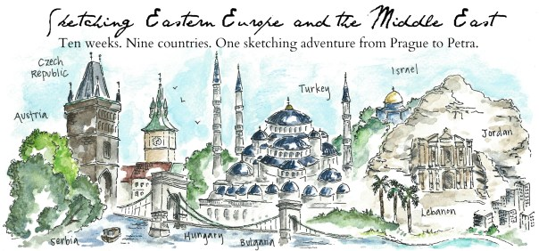 Prague to Petra sketch header