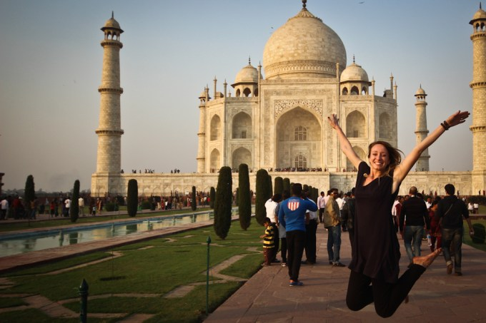 Single woman traveling alone in India