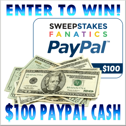 Sweepstakes Fanatics $100 Paypal #Giveaway Ends 2/5