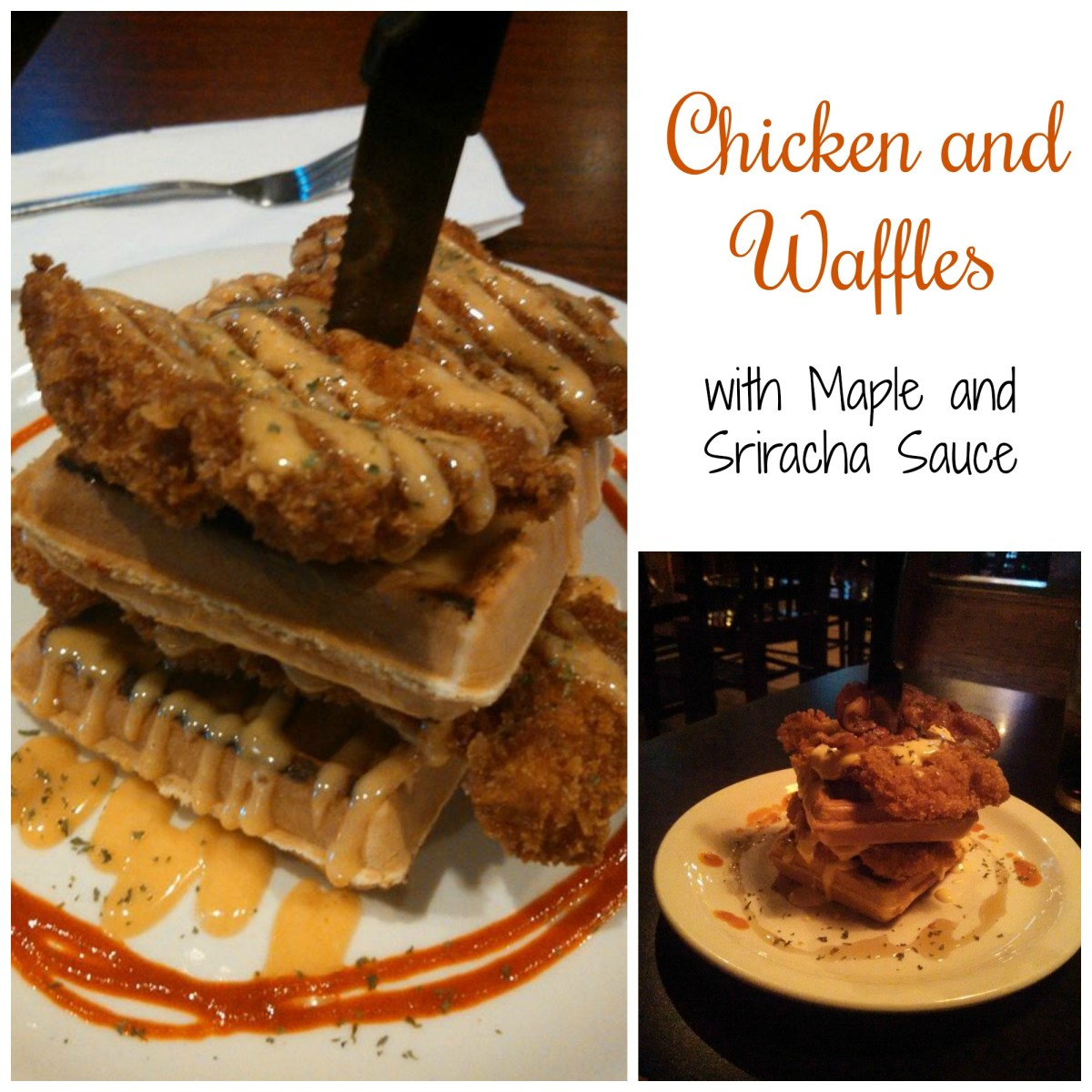 Chicken and Waffles with Maple and Sriracha for Brunch