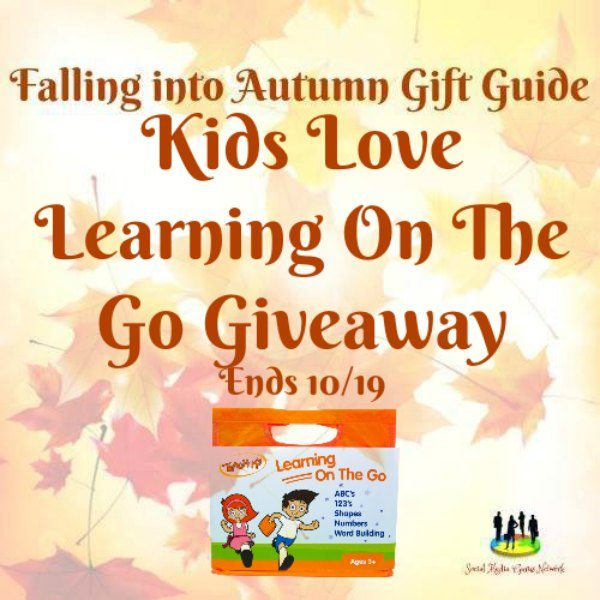 Kids Love Learning on the Go #Giveaway Ends 10/19