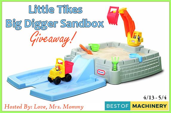 Little Tikes Big Digger Sandbox #Giveaway Ends 5/4