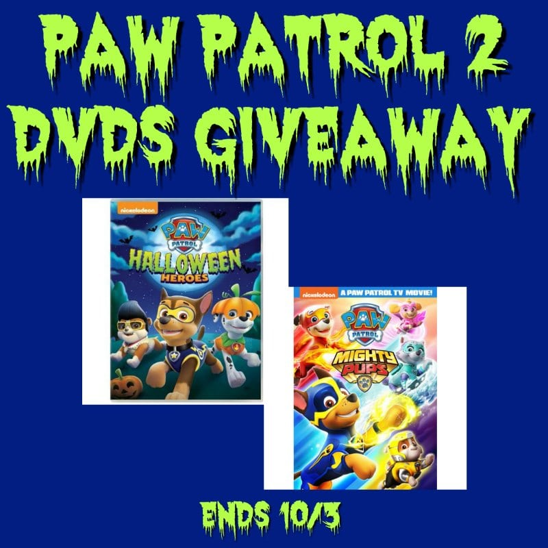 Paw Patrol 2 DVD #Giveaway Ends 10/3