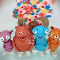 Cuddlies Cake, Egg Birds Cake, Baby TV Cake, 2 Years Old Cake, 2. Yaş Pastası, Efe 2 Yaşında, Sevimliler