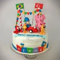 Pocoyo & Friends Cake 1 Yaş pastası
