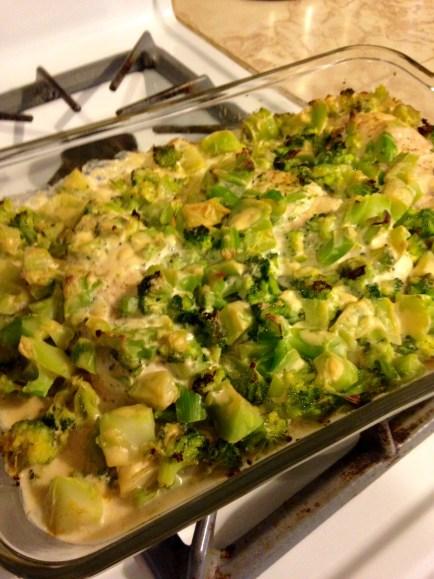 chicken broccoli alfredo baked