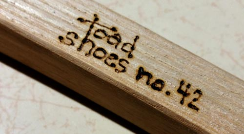 I number each pair I make with a small pyrographer.