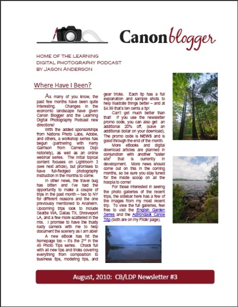 Canon Blogger Newsletter
