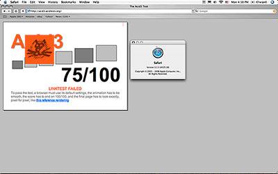 Safari 3 on Mac