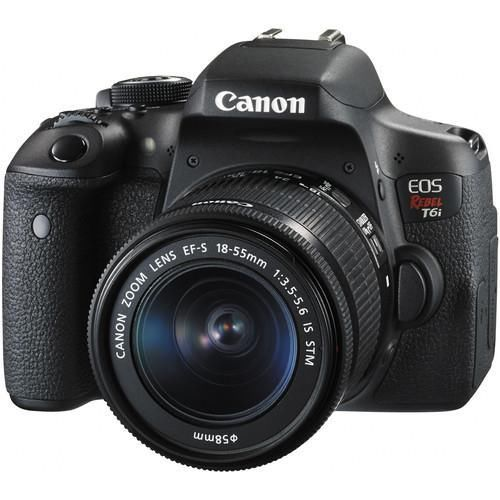 Canon EOS Rebel T6i DSLR Camera with EF-S 18-55mm f/3.5-5.6 IS STM