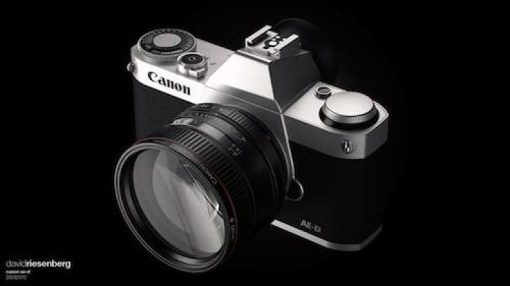 Canon FF mirrorless camera mock-up by David Riesenberg