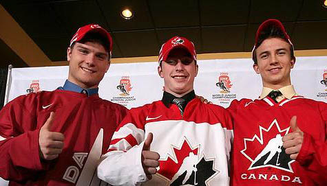 Cody Hodgson wearing Team Canada colors