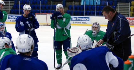 Canucks skate at UBC