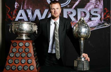 Henrik Sedin wins the Hart Trophy