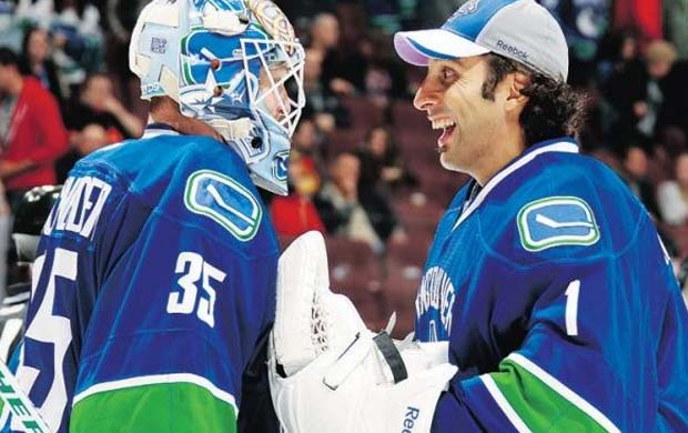 Cory Schneider and Roberto Luongo, Vancouver Canucks