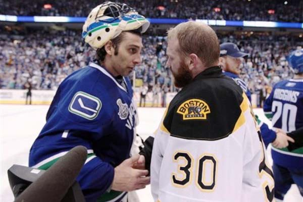Roberto Luongo and Tim Thomas