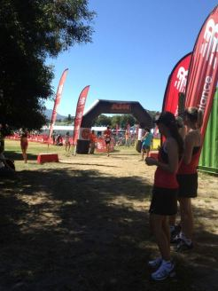 Crossing the line, XTERRA Grabouw 2012