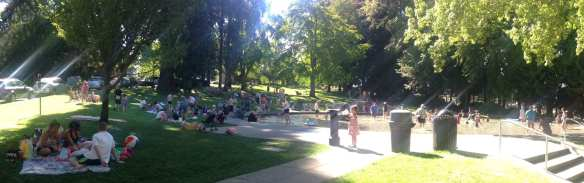 Volunteer Park's wading pool (Image: Peter Allen Clark for CHS)
