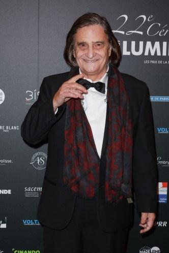 La 22e Ceremonie des Lumieres, Theatre de La Madeleine, Paris, France 30/01/2017. a l'image: Portrait souriant de l'acteur francais Jean Pierre Leaud (Prix du meilleur acteur)