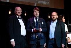 La 22e Ceremonie des Lumieres, Theatre de La Madeleine, Paris, France 30/01/2017. a l'image: YORGOS ARVANITIS et GIDEON KOUTS IBA (Israel) pour LE PRIX DE L'IMAGE