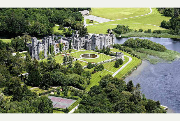 The stunning grounds of Ashford Castle in Ireland