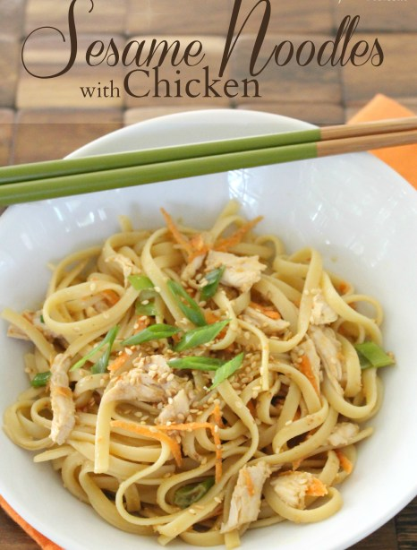 Caramel Potatoes » Sesame Noodles with Chicken