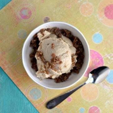 Vegan Salted Caramel Ice Cream, Silken Tofu, Coconut Sugar