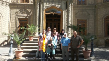 Our group outside the Ceramics Museum in Tehran