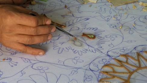 Mosaic craftsman at work in Madaba