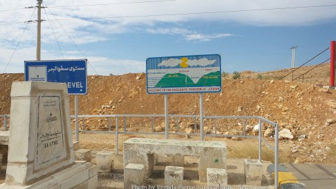 Sea Level - on the way to the Dead Sea, another 1400 feet down!