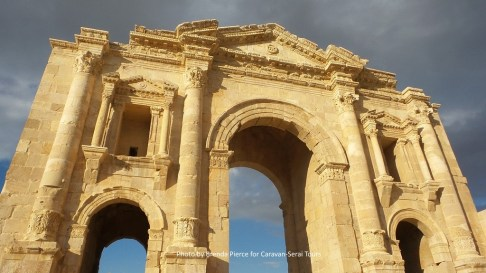Hadrian's Arch - that guy was everywhere! Jordan, Tunisia, England, and more!