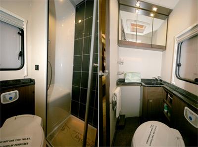 Elddis Aspire washroom